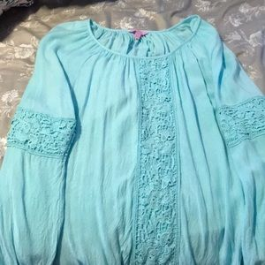 Lily Pulitzer Lace Long Sleeve Blouse